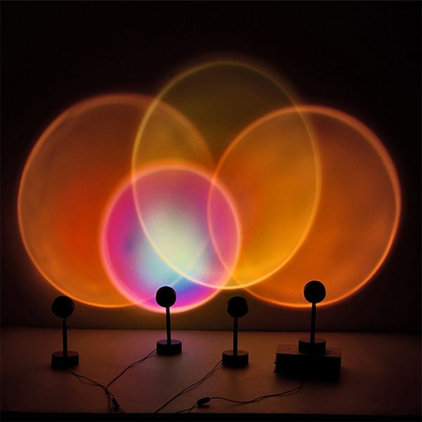 LED Sunset Sunlight and Rainbow Night Light Projector Lamp for Bedroom Home and Office_14