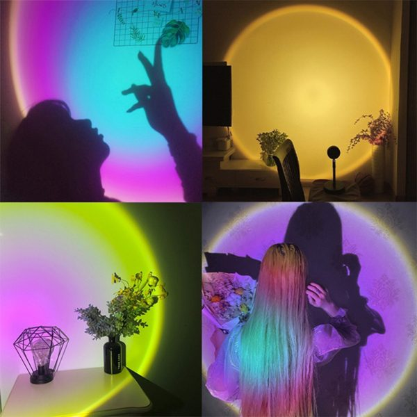 LED Sunset Sunlight and Rainbow Night Light Projector Lamp for Bedroom Home and Office_15