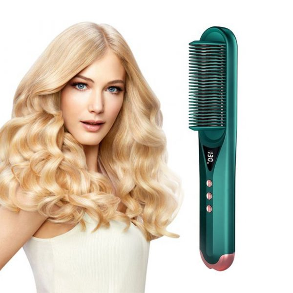 2-in-1 Dual Use Hot Hair Comb Negative Ion Hair Straightener and Curling Iron Hair Brush_2