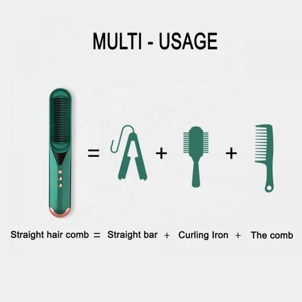 2-in-1 Dual Use Hot Hair Comb Negative Ion Hair Straightener and Curling Iron Hair Brush_4