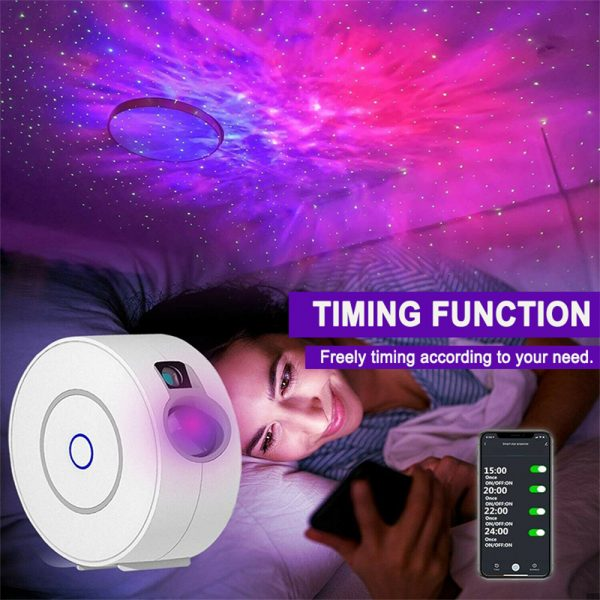 LED Night Light Star Projector with Nebula Cloud, Smart WIFI Bluetooth Projector for App Control_5