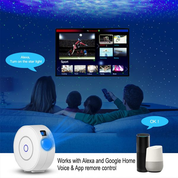 LED Night Light Star Projector with Nebula Cloud, Smart WIFI Bluetooth Projector for App Control_11