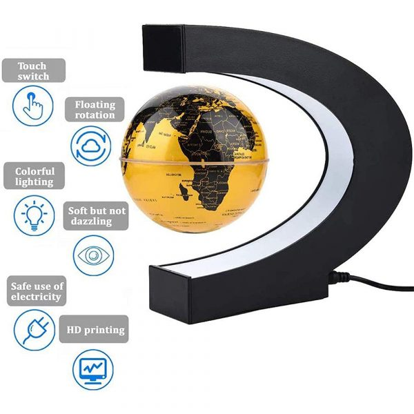 C- Shaped Magnetic Levitation Globe for Desk Table and Home Decoration_7