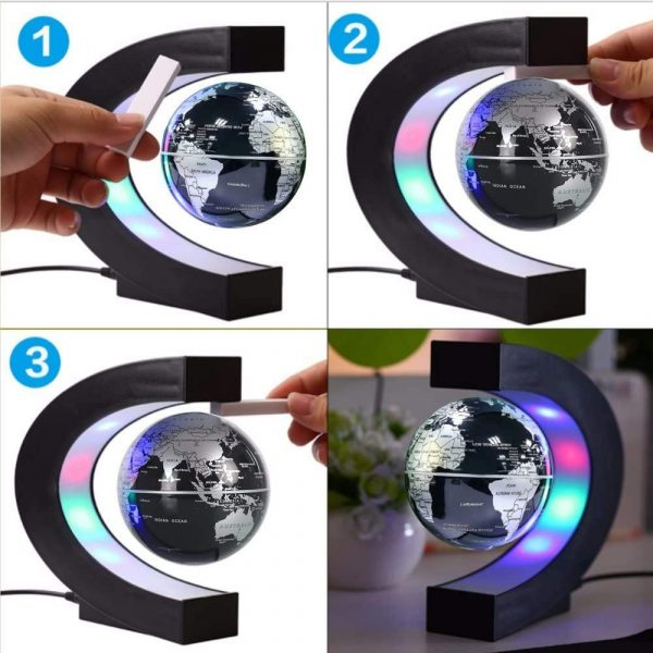 C- Shaped Magnetic Levitation Globe for Desk Table and Home Decoration_9