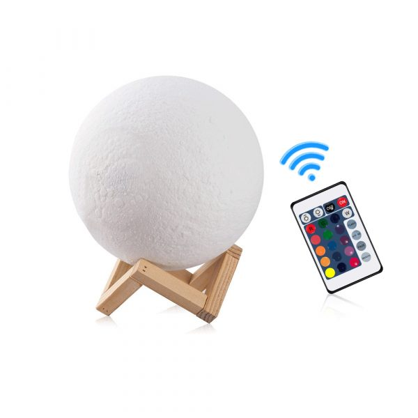 3D Printed Moonlight Lamp in 16 Colors with Remote Control for Bedroom and Home Decoration_1