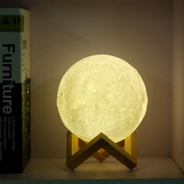 3D Printed Moonlight Lamp in 16 Colors with Remote Control for Bedroom and Home Decoration_4