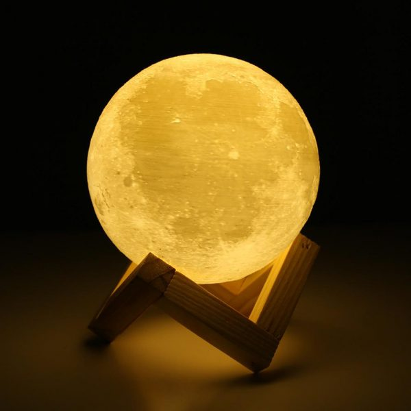 3D Printed Moonlight Lamp in 16 Colors with Remote Control for Bedroom and Home Decoration_5