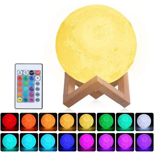 3D Printed Moonlight Lamp in 16 Colors with Remote Control for Bedroom and Home Decoration_6