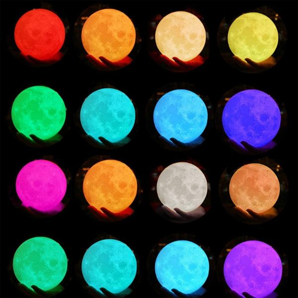 3D Printed Moonlight Lamp in 16 Colors with Remote Control for Bedroom and Home Decoration_11