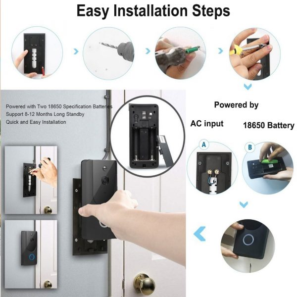 Smart Wireless Wi-Fi HD Video Doorbell for Home Protection and Home Security_12