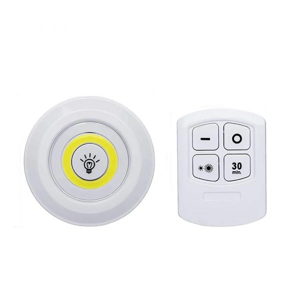 Touch and Remote-Controlled Wireless LED Dimmable Closet Kitchen Wardrobe Puck Lights_3