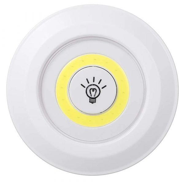 Touch and Remote-Controlled Wireless LED Dimmable Closet Kitchen Wardrobe Puck Lights_2
