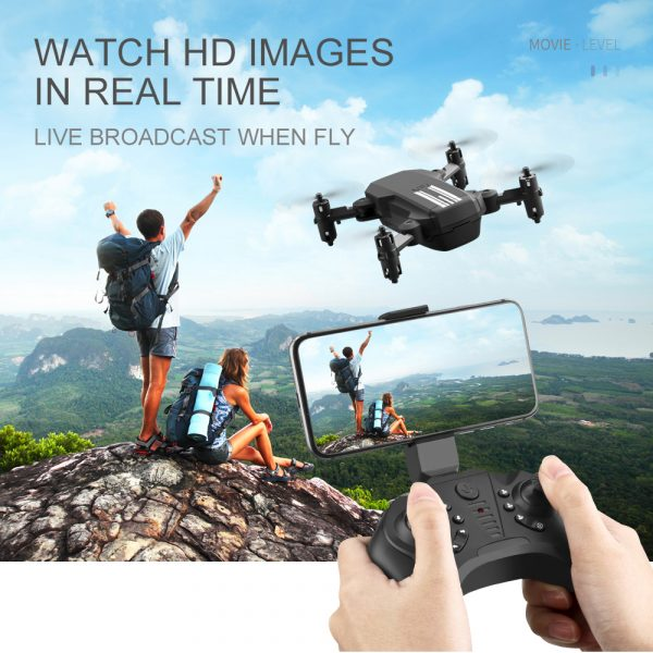 USB Rechargeable 4K Resolution Mini Folding Drone with Remote Control_14