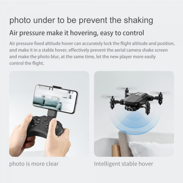 USB Rechargeable 4K Resolution Mini Folding Drone with Remote Control_18