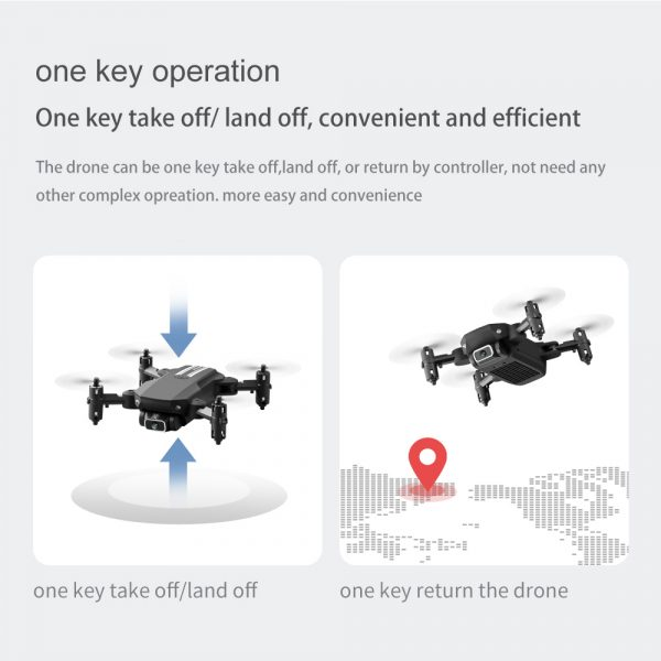 USB Rechargeable 4K Resolution Mini Folding Drone with Remote Control_23
