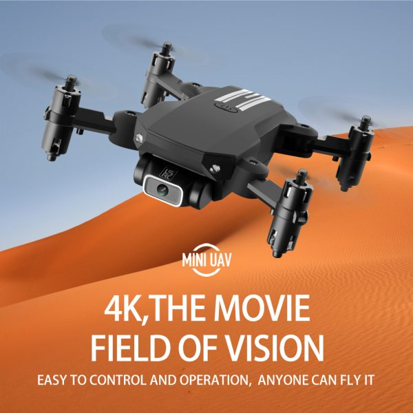 USB Rechargeable 4K Resolution Mini Folding Drone with Remote Control_7