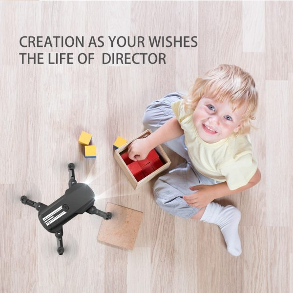 USB Rechargeable 4K Resolution Mini Folding Drone with Remote Control_9
