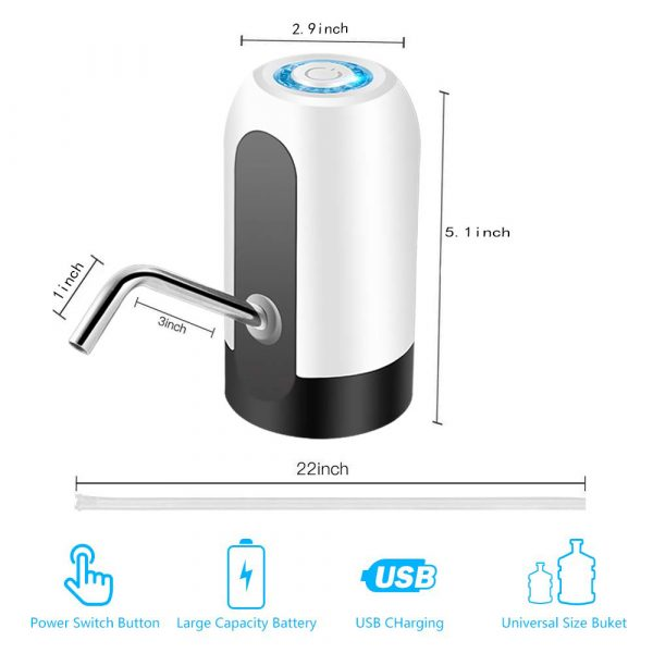 USB Rechargeable Electric Water Dispenser Water Bottle Pump Water Pumping Device_16