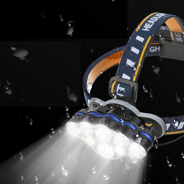 USB Rechargeable Outdoor Multi-Lights Strong Head Lamp for Extreme Outdoor Activities_1