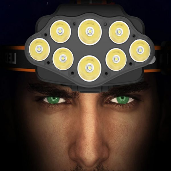 USB Rechargeable Outdoor Multi-Lights Strong Head Lamp for Extreme Outdoor Activities_2