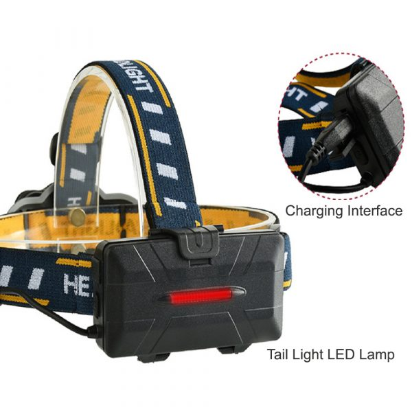 USB Rechargeable Outdoor Multi-Lights Strong Head Lamp for Extreme Outdoor Activities_5