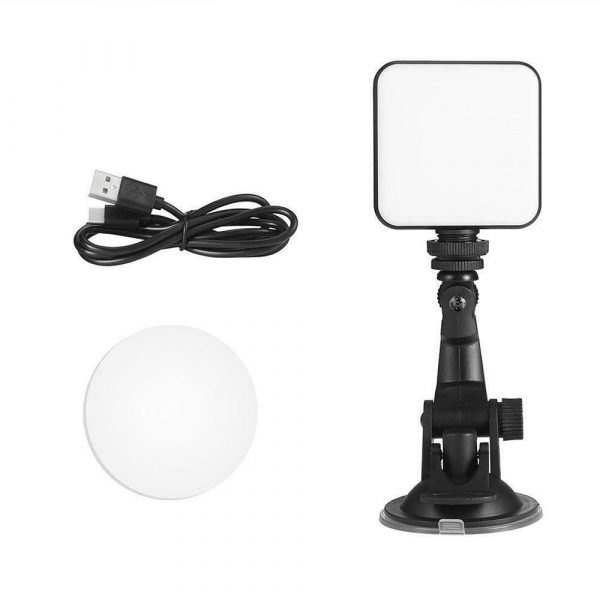 USB Rechargeable Strong Suction Video Conference LED Dimmable Fill Light_2