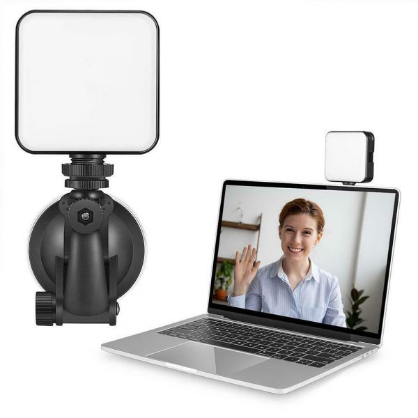 USB Rechargeable Strong Suction Video Conference LED Dimmable Fill Light_4