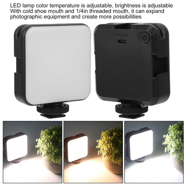 USB Rechargeable Strong Suction Video Conference LED Dimmable Fill Light_11