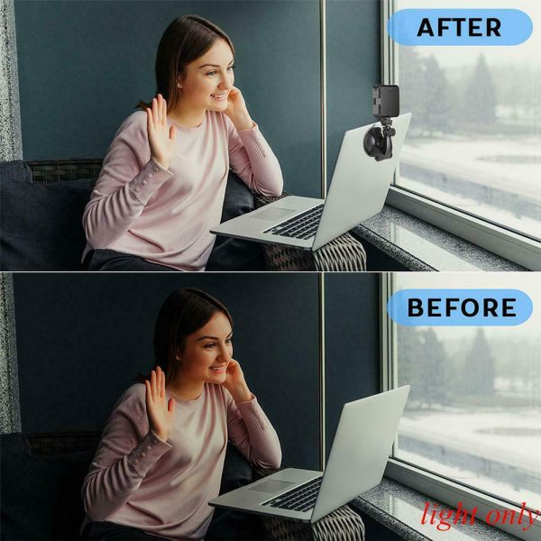 USB Rechargeable Strong Suction Video Conference LED Dimmable Fill Light_12