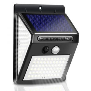 270° 3-Side Lighting Solar Powered Motion Sensor Outdoor LED Light