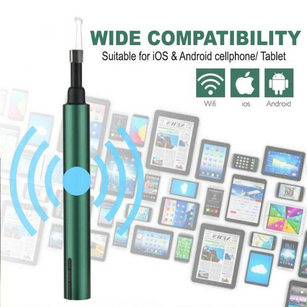 WI-FI Enabled HD Wireless Otoscope Earwax Remover Visual Ear Cleaner_8