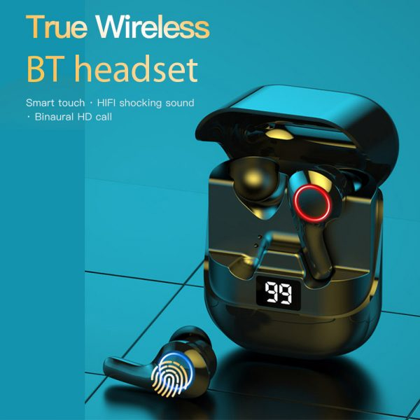 TWS Touch Control Wireless Headphones 9D Stereo Bluetooth with Mic_5