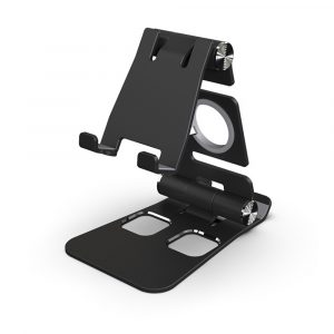 Foldable and Portable 3-in-1 Tablet and Phone Holder for Table and Desktop