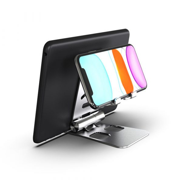 Foldable and Portable 3-in-1 Tablet and Phone Holder for Table and Desktop_2