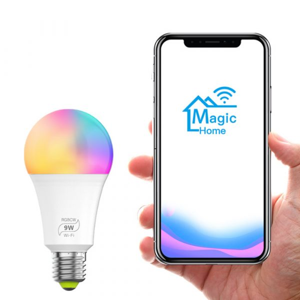 Wi-Fi Enabled 9W Color Changing Smart LED Light Bulb APP Ready_1