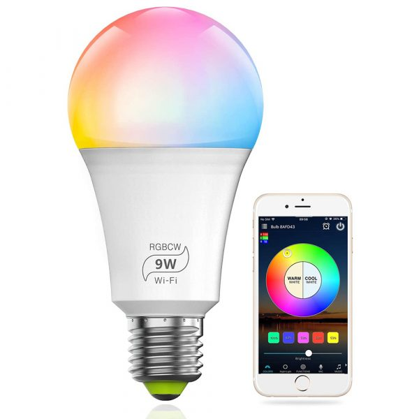 Wi-Fi Enabled 9W Color Changing Smart LED Light Bulb APP Ready_3