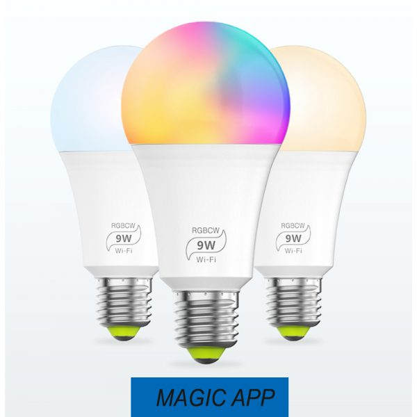 Wi-Fi Enabled 9W Color Changing Smart LED Light Bulb APP Ready_4