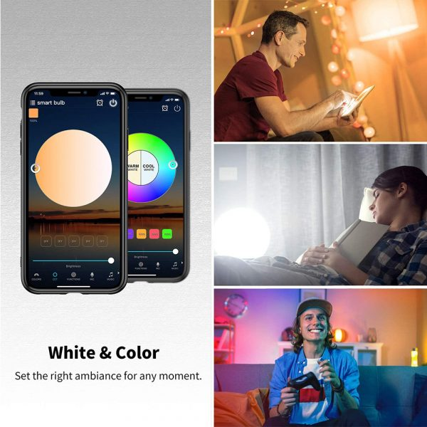 Wi-Fi Enabled 9W Color Changing Smart LED Light Bulb APP Ready_6