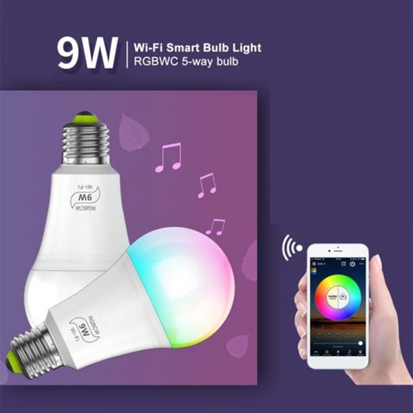 Wi-Fi Enabled 9W Color Changing Smart LED Light Bulb APP Ready_7