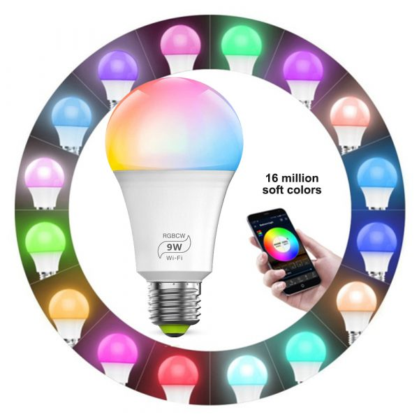 Wi-Fi Enabled 9W Color Changing Smart LED Light Bulb APP Ready_8