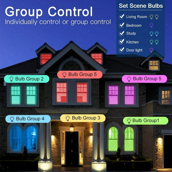 Wi-Fi Enabled 9W Color Changing Smart LED Light Bulb APP Ready_11