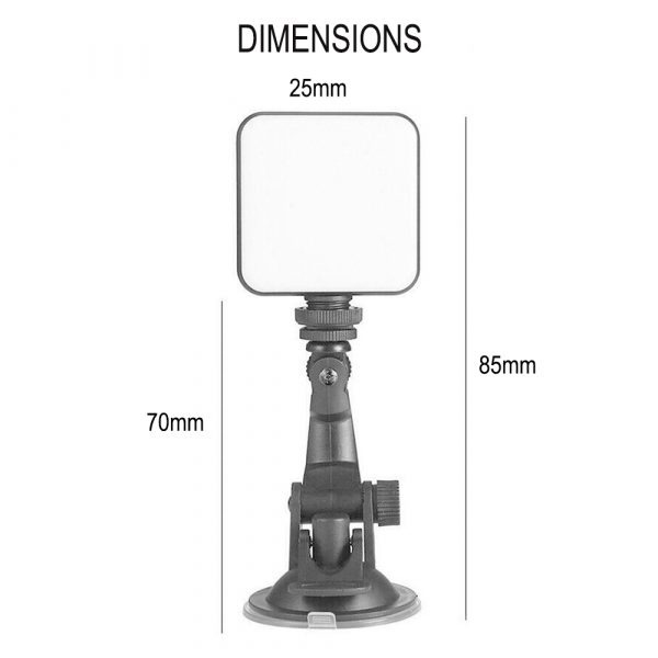 USB Rechargeable Strong Suction Video Conference LED Dimmable Fill Light_13