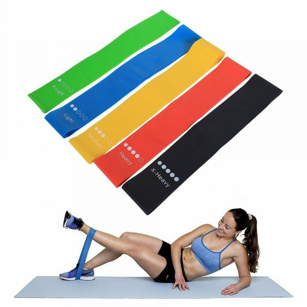 5-Pc Skin Friendly Different Levels Yoga Resistance Bands_3
