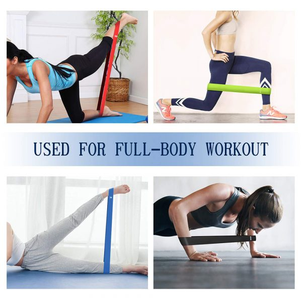 5-Pc Skin Friendly Different Levels Yoga Resistance Bands_13