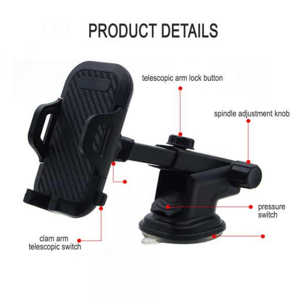 Suction Type Multi-Function Car Mobile Phone Holder_3