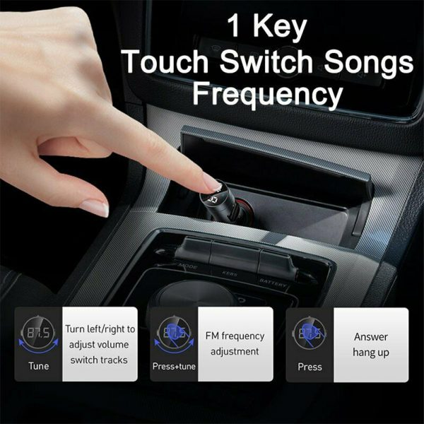 Wireless Car Bluetooth Transmitter and Charger Column Style_7