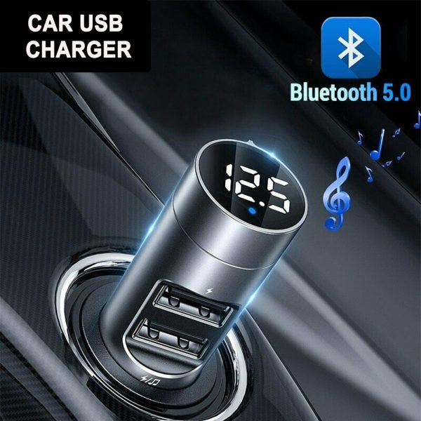 Wireless Car Bluetooth Transmitter and Charger Column Style_5