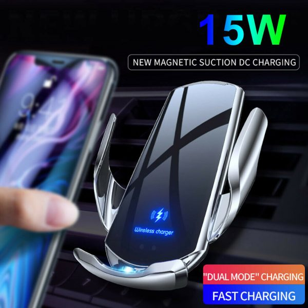 15W Q3 Wireless Car Mobile Phone Charger and Holder_4