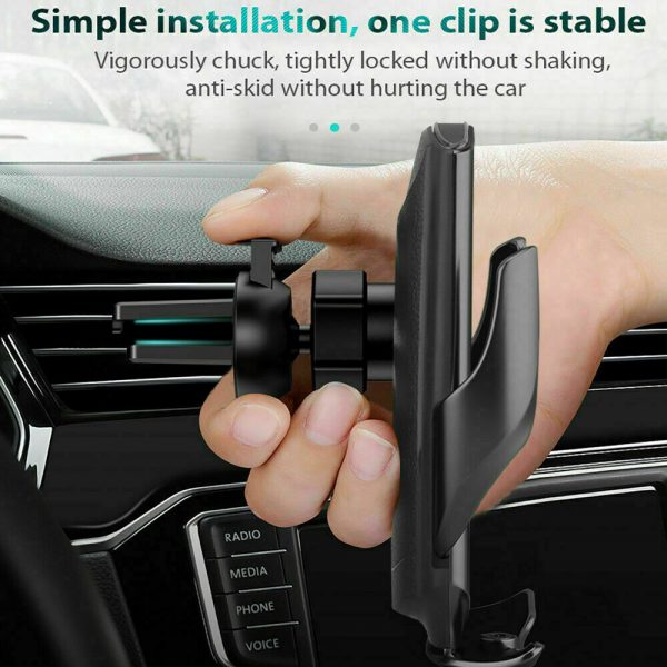 15W Q3 Wireless Car Mobile Phone Charger and Holder_13