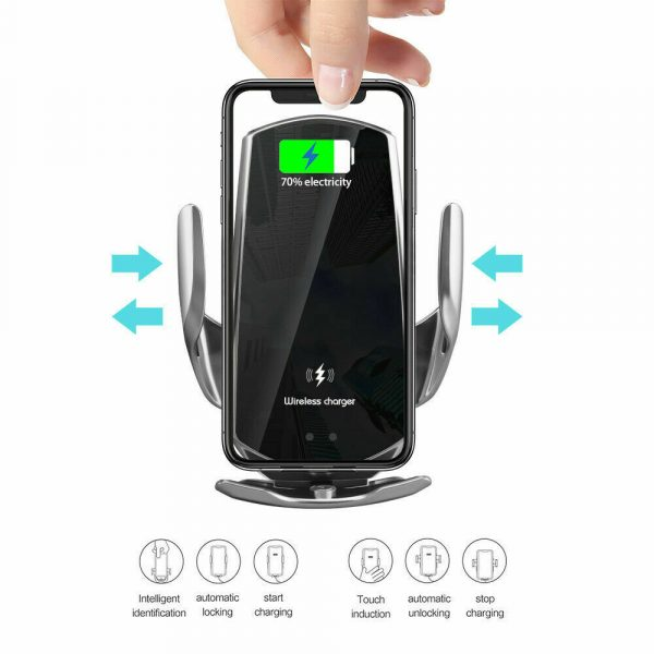 15W Q3 Wireless Car Mobile Phone Charger and Holder_6
